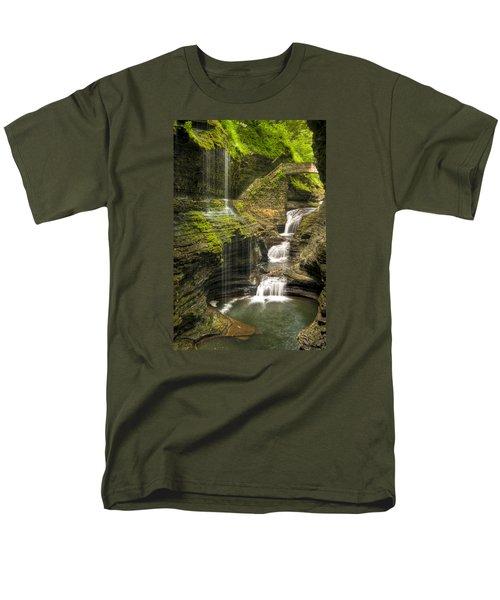 Watkins Glen Falls Men's T-Shirt  (Regular Fit) by Anthony Sacco
