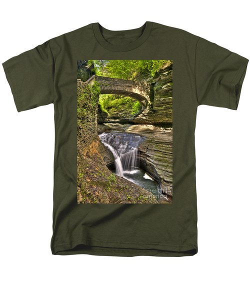 Watkins Glen Waterfalls Men's T-Shirt  (Regular Fit) by Anthony Sacco