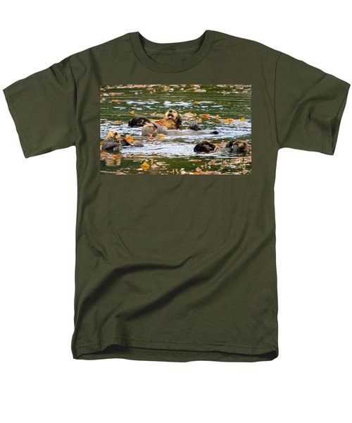 We Otter Be In Pictures Men's T-Shirt  (Regular Fit) by Bob Hislop