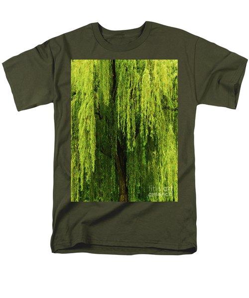 Weeping Willow Tree Enchantment  Men's T-Shirt  (Regular Fit) by Carol F Austin
