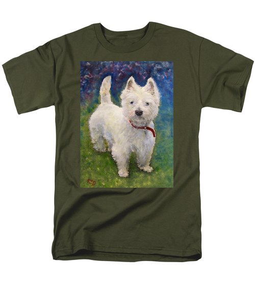 West Highland Terrier Holly Men's T-Shirt  (Regular Fit) by Richard James Digance