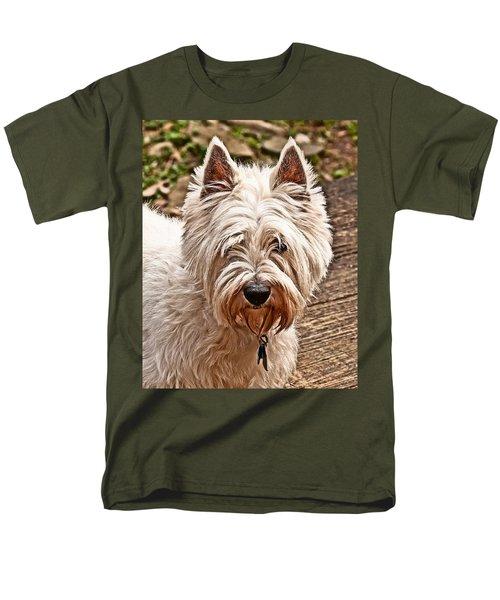 Men's T-Shirt  (Regular Fit) featuring the photograph West Highland White Terrier by Robert L Jackson