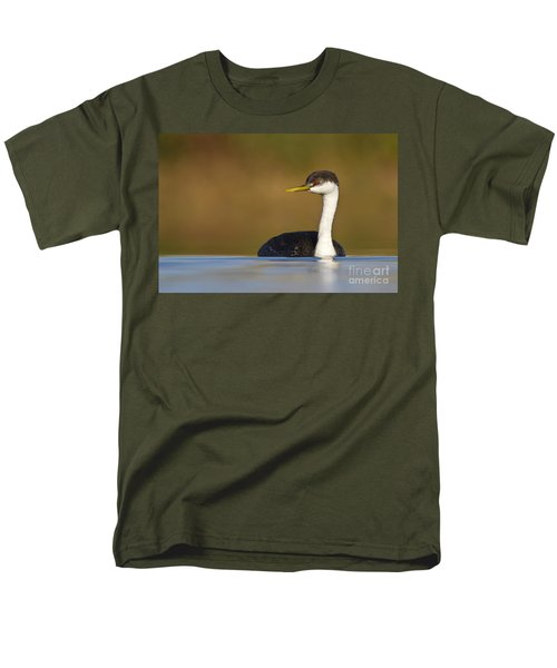 Men's T-Shirt  (Regular Fit) featuring the photograph Western Grebe On The Lake by Bryan Keil