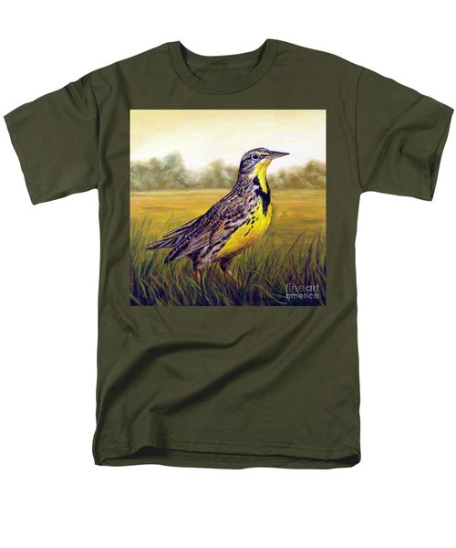 Western Meadowlark Afternoon Men's T-Shirt  (Regular Fit) by Tom Chapman