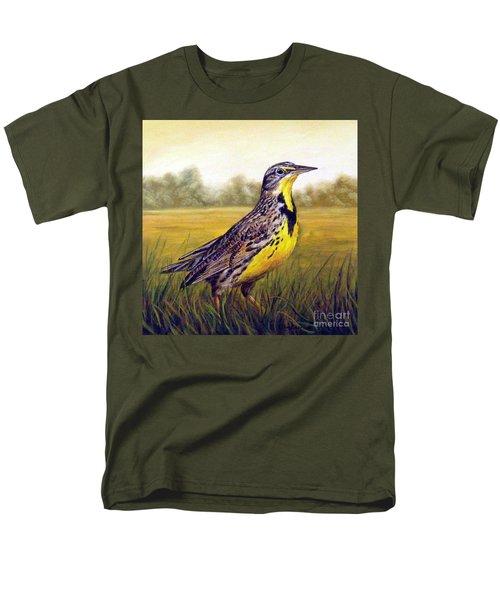 Western Meadowlark Afternoon Men's T-Shirt  (Regular Fit)