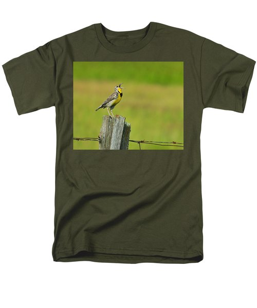 Western Meadowlark Men's T-Shirt  (Regular Fit) by Tony Beck