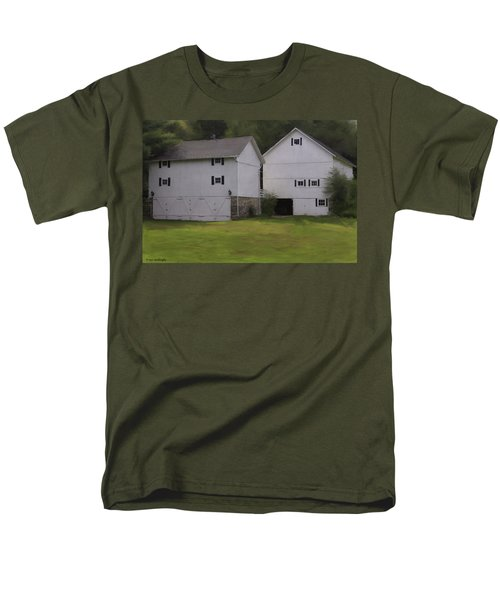 White Barns Men's T-Shirt  (Regular Fit) by Fran Gallogly
