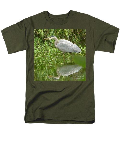 Men's T-Shirt  (Regular Fit) featuring the photograph White Egret Double  by Susan Garren