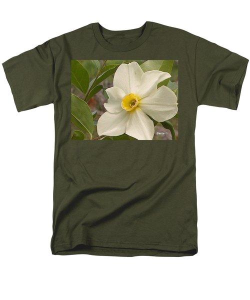 White Flower Men's T-Shirt  (Regular Fit)