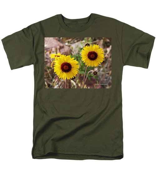 Men's T-Shirt  (Regular Fit) featuring the photograph Wild Flowers Above The Rim by Tom Janca