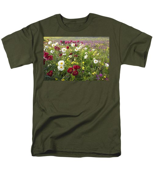 Wild Poppies South Texas Men's T-Shirt  (Regular Fit) by Susan Rovira