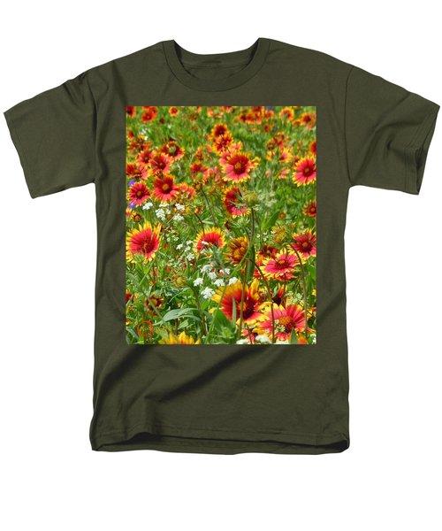 Men's T-Shirt  (Regular Fit) featuring the photograph Wild Red Daisies #2 by Robert ONeil
