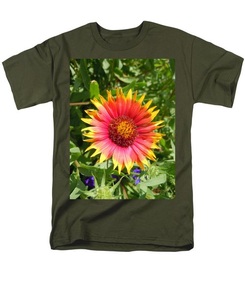 Men's T-Shirt  (Regular Fit) featuring the photograph Wild Red Daisy #3 by Robert ONeil