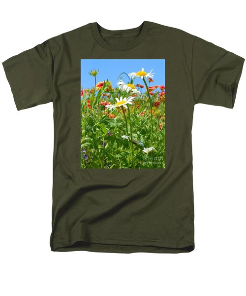 Men's T-Shirt  (Regular Fit) featuring the photograph Wild White Daisies #2 by Robert ONeil