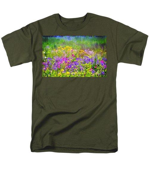 Wildflower Beauty  Men's T-Shirt  (Regular Fit) by Peggy Franz