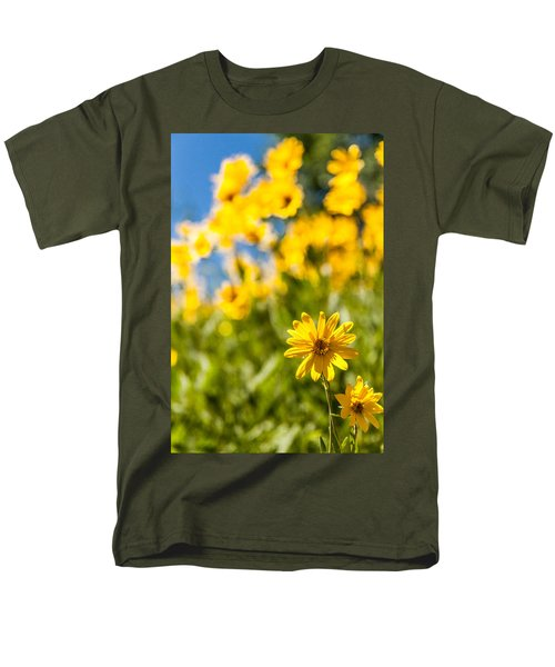 Wildflowers Standing Out Abstract Men's T-Shirt  (Regular Fit) by Chad Dutson