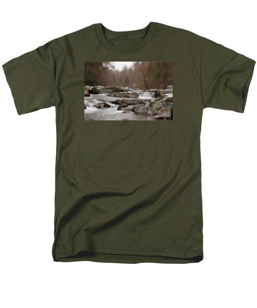 Men's T-Shirt  (Regular Fit) featuring the photograph Winter Stream by Geraldine DeBoer