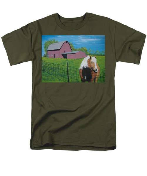 Wisconsin Barn Men's T-Shirt  (Regular Fit) by Norm Starks