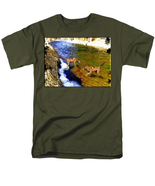 Men's T-Shirt  (Regular Fit) featuring the digital art Wolves by Daniel Janda
