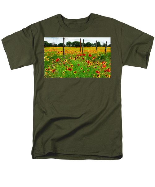 Wonderful Wildflowers Men's T-Shirt  (Regular Fit) by Lynn Bauer