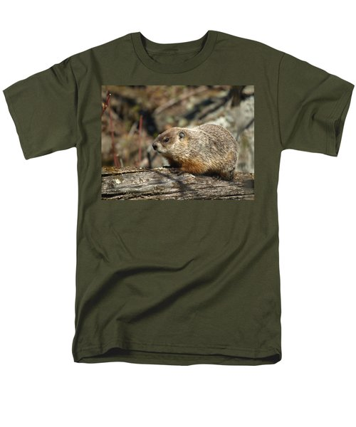 Men's T-Shirt  (Regular Fit) featuring the photograph Woodchuck by James Peterson
