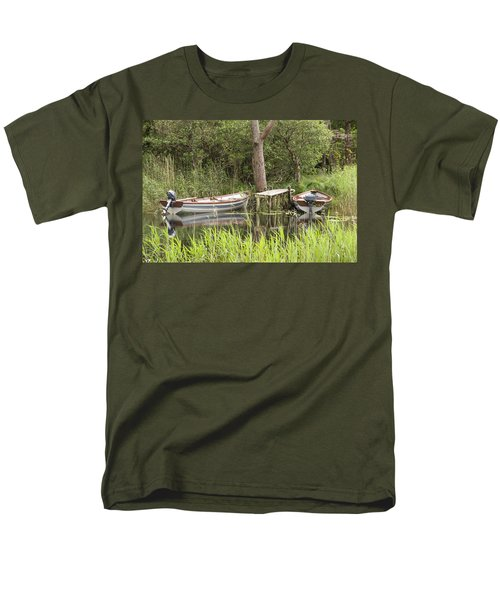 Men's T-Shirt  (Regular Fit) featuring the photograph Wooden Boats by Jeremy Voisey
