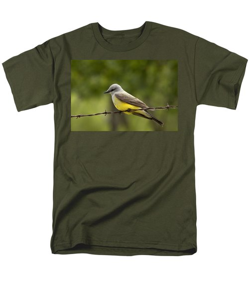 Yellow-bellied Fence-sitter Men's T-Shirt  (Regular Fit) by Gary Holmes