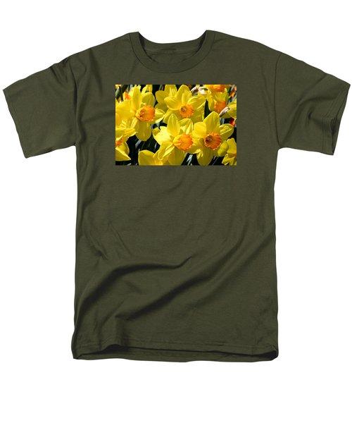 Yellow Daffodils Men's T-Shirt  (Regular Fit) by Menachem Ganon