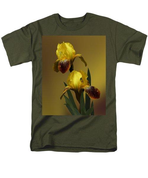 Yellow Iris Men's T-Shirt  (Regular Fit) by Judy  Johnson