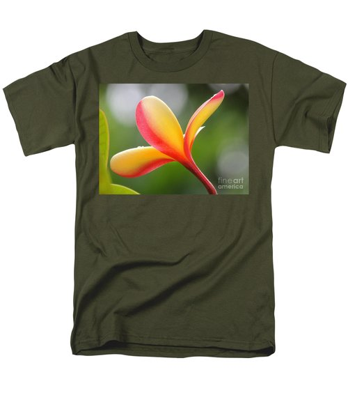 Men's T-Shirt  (Regular Fit) featuring the photograph Yellow Pink Plumeria by Kristine Merc