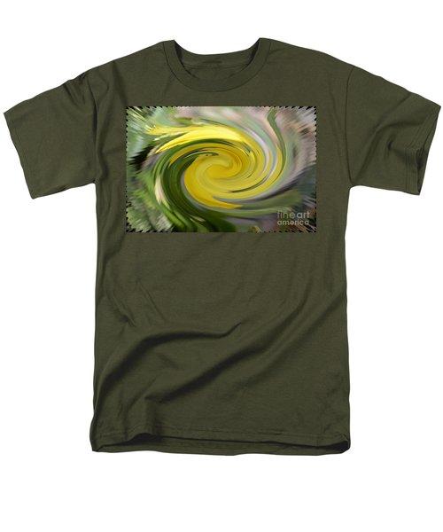 Men's T-Shirt  (Regular Fit) featuring the digital art Yellow Whirlpool by Luther Fine Art