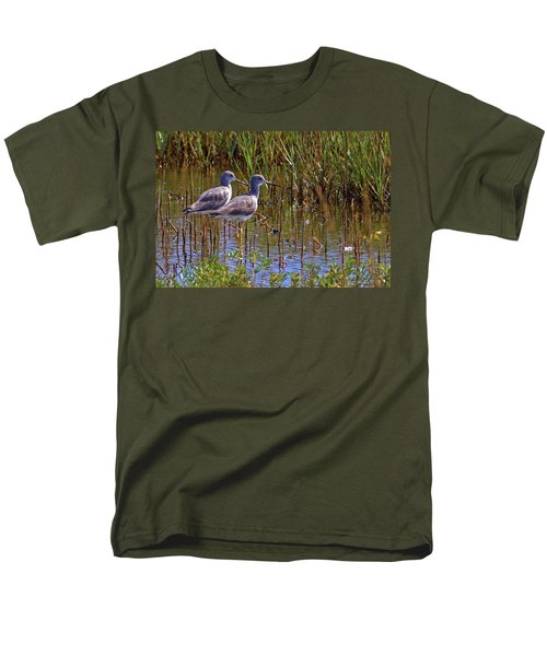 Men's T-Shirt  (Regular Fit) featuring the photograph Yellowlegs Of Texas by Gary Holmes