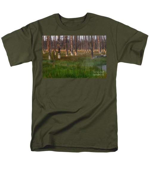 Yellowstone Mysterious Morning Men's T-Shirt  (Regular Fit) by Teresa Zieba