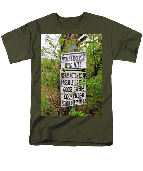 Men's T-Shirt  (Regular Fit) featuring the photograph You Can Get There From Here by Sherman Perry