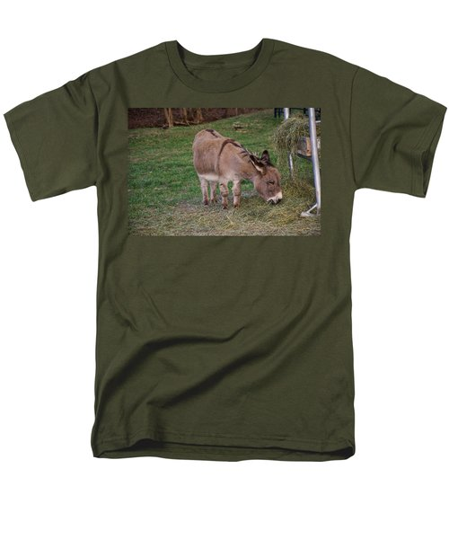 Young Donkey Eating Men's T-Shirt  (Regular Fit) by Chris Flees