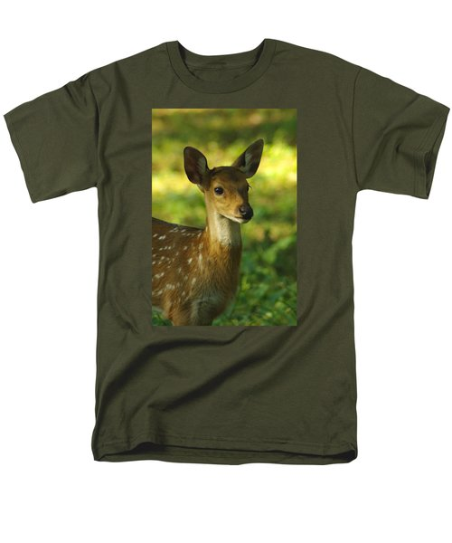 Young Spotted Deer Men's T-Shirt  (Regular Fit) by Jacqi Elmslie