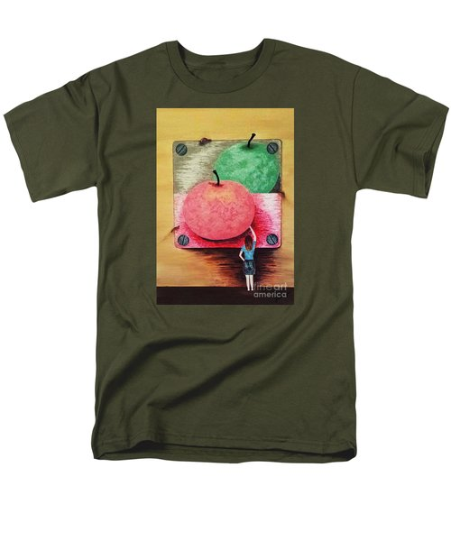 Men's T-Shirt  (Regular Fit) featuring the painting Youth And Maturity by Jasna Gopic