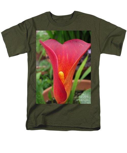 Zantedeschia Named Red Sox Men's T-Shirt  (Regular Fit) by J McCombie