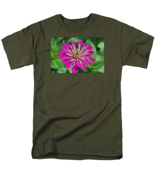 Men's T-Shirt  (Regular Fit) featuring the photograph Zinnia Opening by Eunice Miller