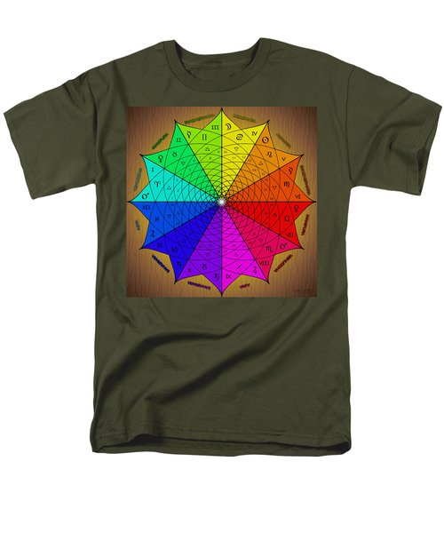 Zodiac Color Star Men's T-Shirt  (Regular Fit)