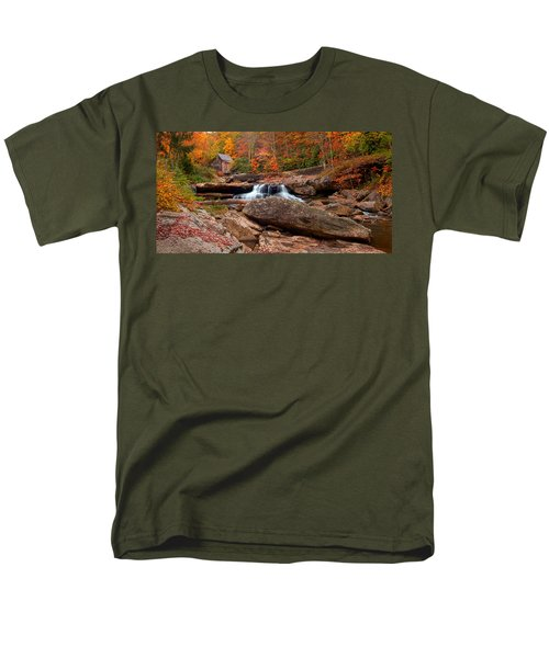 Autumn Leaves At The Mill Men's T-Shirt  (Regular Fit) by Randall Branham