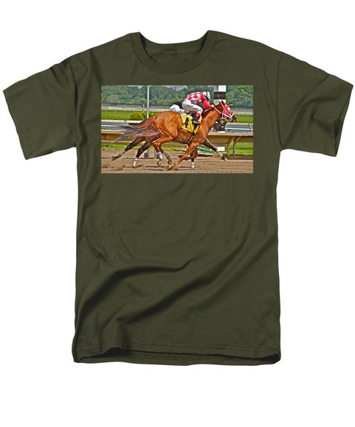 Men's T-Shirt  (Regular Fit) featuring the photograph  Betting On Number Four by Alice Gipson