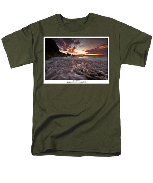 Sunset Tides - Porth Swtan Men's T-Shirt  (Regular Fit) by Beverly Cash