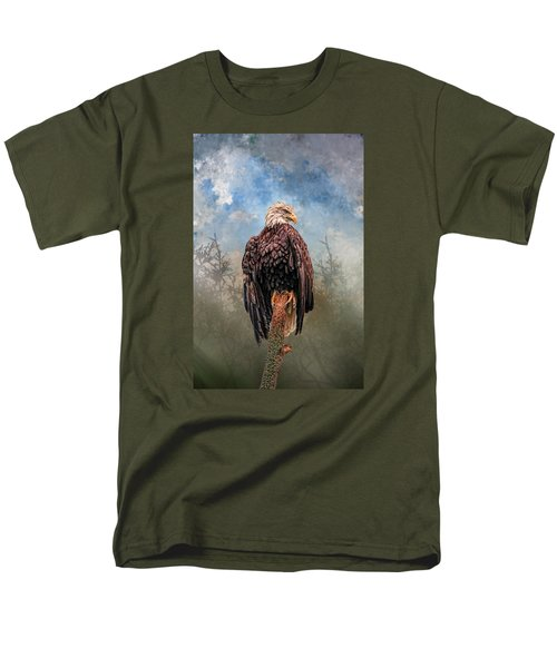Men's T-Shirt  (Regular Fit) featuring the digital art American Bald Eagle by Mary Almond