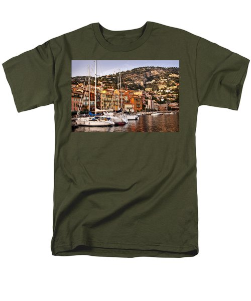 Men's T-Shirt  (Regular Fit) featuring the photograph Villefranche-sur-mer  by Steven Sparks
