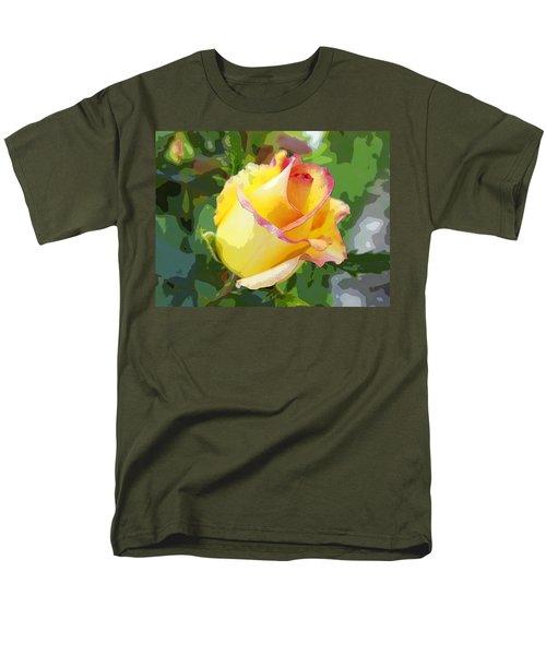 Men's T-Shirt  (Regular Fit) featuring the photograph Yellow Rose by Anne Mott