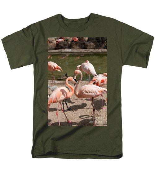 Flamingos Men's T-Shirt  (Regular Fit) by Carol Ailles