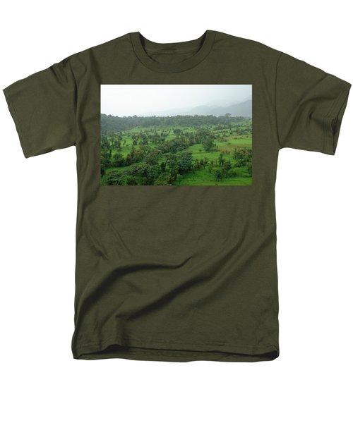 A Beautiful Green Countryside Men's T-Shirt  (Regular Fit) by Ashish Agarwal