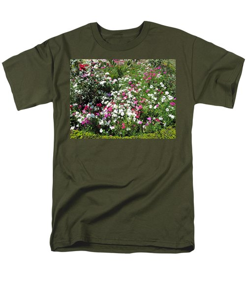 Men's T-Shirt  (Regular Fit) featuring the photograph A Bed Of Beautiful Different Color Flowers by Ashish Agarwal