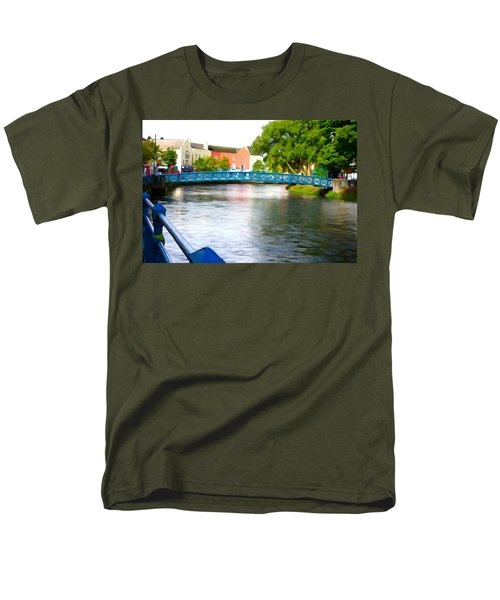 Men's T-Shirt  (Regular Fit) featuring the photograph A River Runs Through It by Charlie and Norma Brock